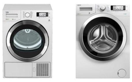 Set (Sušička prádla Beko DPY 8506 GXB1) + (Automatická pračka Beko Superia WMY 71243 CS PTLMB1)