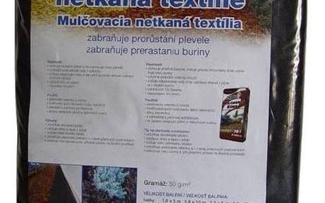Mulčovací textilie Agro 1,6 x 10 m, mulčovací netkaná černá