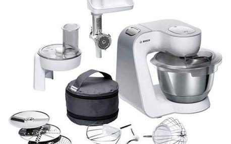 Kuchyňský robot Bosch CreationLine MUM58224 stříbrný/bílý + dárek
