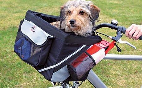Přepravní box pro psy na kolo Trixie 38*25*25cm černo-šedá