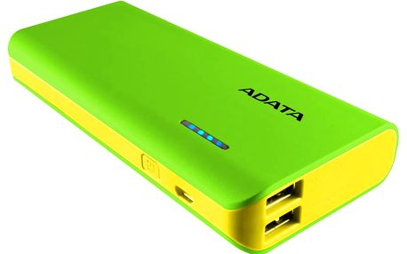 ADATA PT100 10000mAh zelená/žlutá - APT100-10000M-5V-CGRYL