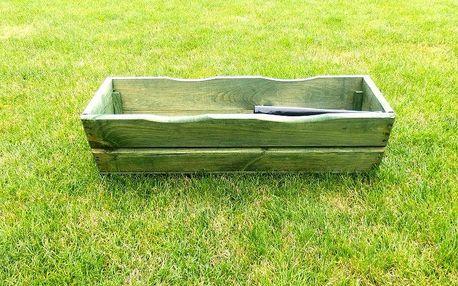 Zahradní květináč truhlík 64 cm zelený