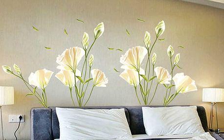 Nalepte.cz Bílé květiny 140 x 120 cm