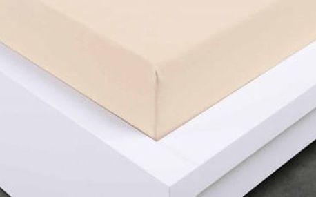 XPOSE ® Jersey prostěradlo Exclusive jednolůžko - bílá káva 90x200 cm