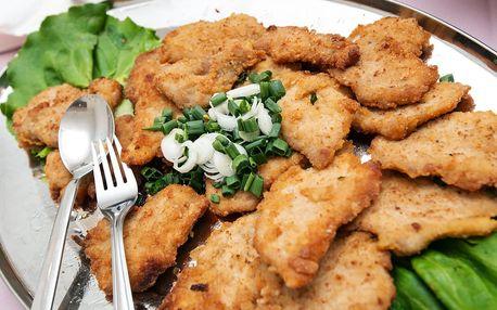 Menu až pro 4 osoby: kuřecí mini řízečky + bram. salát + 4x štrůdl