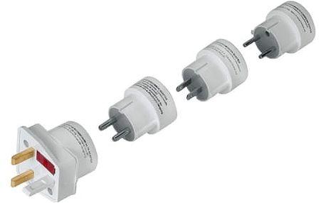 Cestovní adaptér Hama pro 150 zemí (44220) bílý