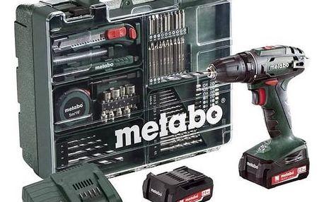 Aku vrtačka Metabo BS14.4Set MD 2x2,0Ah zelená + Doprava zdarma