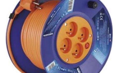 Kabel prodlužovací na bubnu EMOS 4x zásuvka, 30m (DG-4ZR-F04) oranžový