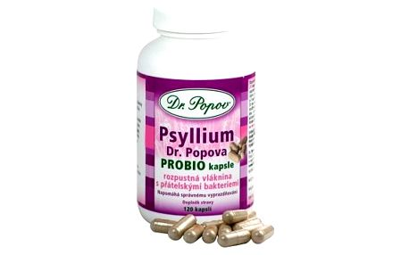 DR. POPOV Psyllium PROBIO 120 kapslí