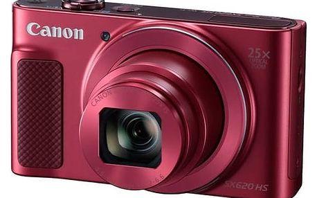 Digitální fotoaparát Canon PowerShot SX620 HS (1073C002) červený + Doprava zdarma
