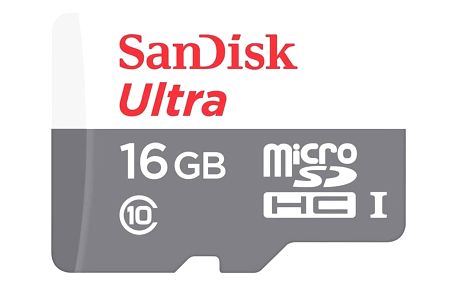 SanDisk Micro SDHC Ultra Android 16GB 48MB/s UHS-I - SDSQUNB-016G-GN3MN