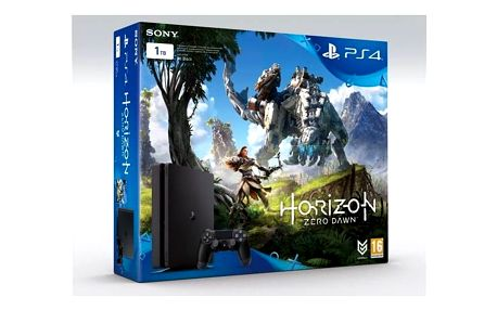 Herní konzole Sony PlayStation 4 SLIM 1TB + Horizon Zero Dawn (PS719837961) černá + Gamepad Sony Dual Shock 4 pro PS4 v2 - černý v hodnotě 1 299 Kč + Doprava zdarma