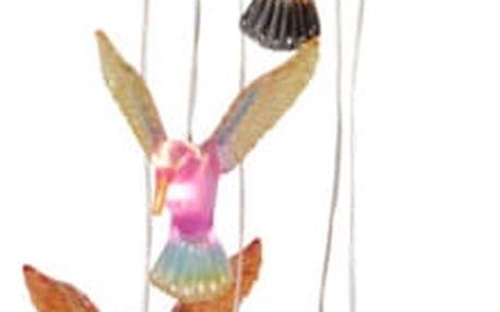 Závěsná solární LED dekorace Best Season Hummingbirds, 6 světýlek