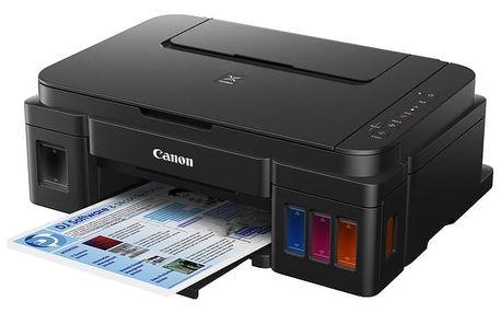 Canon PIXMA G3400, tankový systém, černá - 0630C009 + PRN Canon Foto papír Plus Glossy II PP-201, 13x18 cm, 20 ks, 260g/m2, lesklý v ceně 179,-