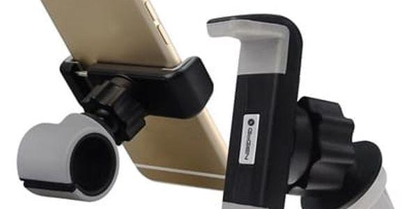 Držák na mobil GoGEN MCH640, univerzální, 2v1 černé/šedé (MCH640)
