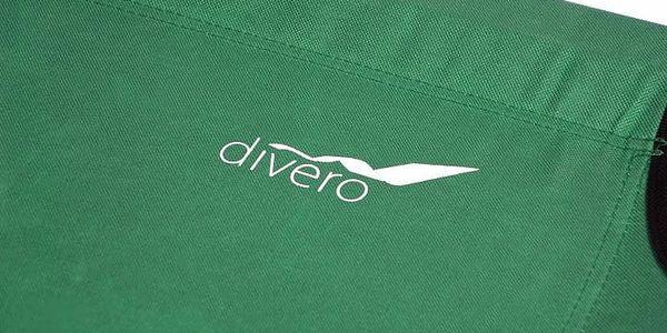 Přenosná hliníková skládací postel DIVERO 210 x 64 x 42 cm - zelená4