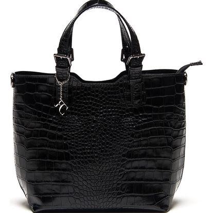 Černá kožená kabelka Renata Corsi 635 - doprava zdarma!