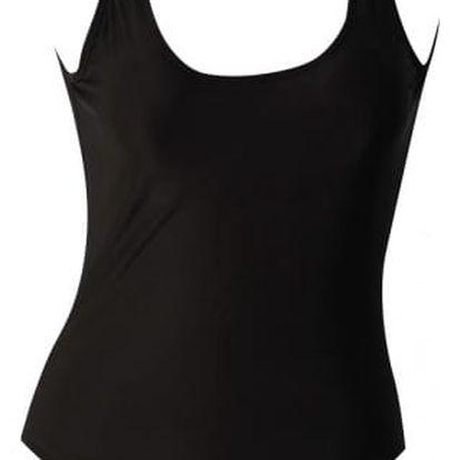 Jednoduché dámské plavky s hlubokým výstřihem - 2 barvy