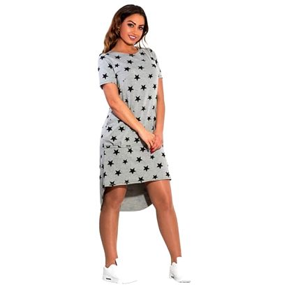 Plus size šaty s hvězdičkami a kapsami - 2 barvy