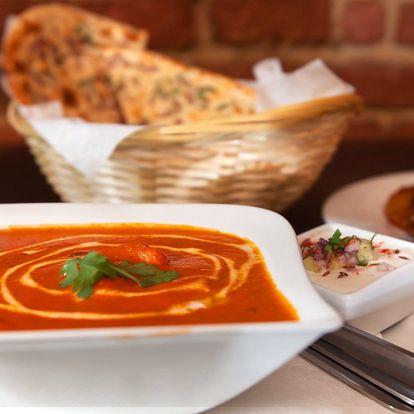 Sestavte si indické menu o třech chodech