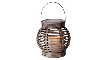 Šedá solární LED lucerna Best Season Rustic