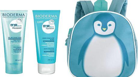 BIODERMA ABCDerm Gel moussant 200 ml + Hydratant 200 ml + batůžek zdarma