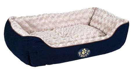 Pelíšek Scruffs Wilton Box Bed modrý 75x60cm
