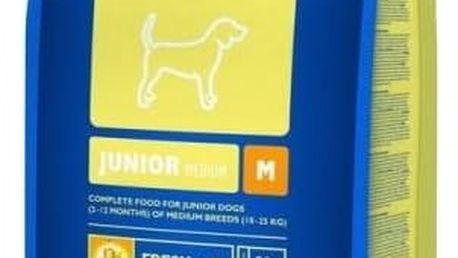 Granule Brit Premium Dog Junior M 15 kg + Doprava zdarma