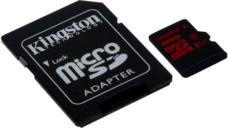 Kingston Micro SDHC 32GB Class 10 UHS-I U3 + SD adaptér - SDCA3/32GB