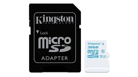 Paměťová karta Kingston MicroSDHC 32GB UHS-I U3 (90R/45W) + adapter (SDCAC/32GB)