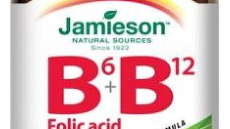 JAMIESON Vitamíny B6 B12 + kyselina listová 110 tablet