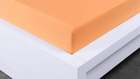 XPOSE ® Jersey prostěradlo Exclusive dvoulůžko - meruňková 160x200 cm