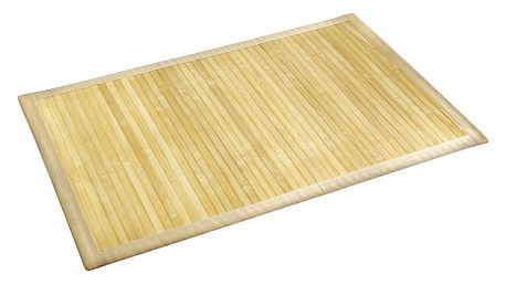 Světlá koupelnová podložka z bambusu Wenko, 50x80 cm