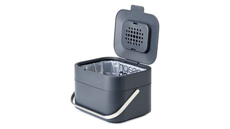 Tmavě šedá nádobka na kompostovatelný odpad Joseph Joseph IntelligentWaste - doprava zdarma!