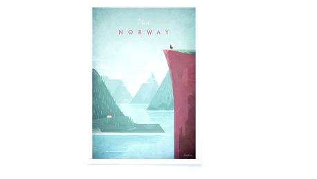 Plakát Travelposter Norway, A3