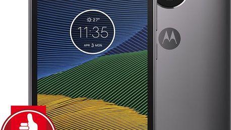 Motorola Moto G5 - 16GB, LTE, šedá - PA610037CZ + Zdarma GSM reproduktor Accent Funky Sound, červená (v ceně 299,-)