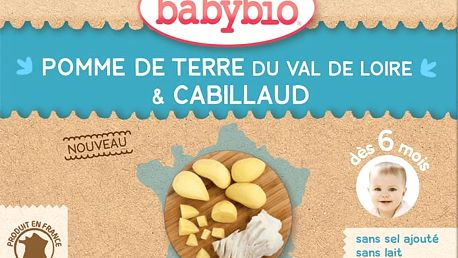 2x BABYBIO Menu brambory s treskou 200g