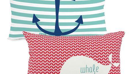 Oboustranný povlak na polštář Baleno Whale Ride, 50x30cm