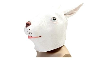 Gumová maska bílého králíka - 2 varianty