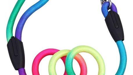 Duhové vodítko pro psy v neonových barvách