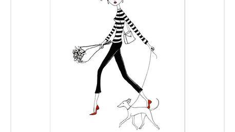 Plakát Leo La Douce Dans La Rue, 29,7x42cm