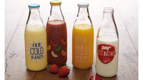 Sada 4 sklenic s potiskem KitchenCraft HomeMade, 950ml