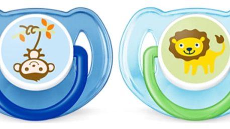 AVENT Šidítko Džungle (6-18m) 2ks - kluk - opička a lvíček