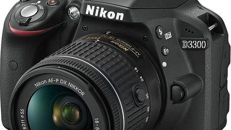 Nikon D3300 + 18-55 VR AF-P, černá - VBA390K008