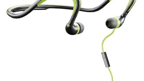 CellularLine Scorpion sportovní ergonomická sluchátka, černo-zelená - SCORPIN