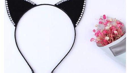 Roztomilá čelenka s kočičími oušky - více variant