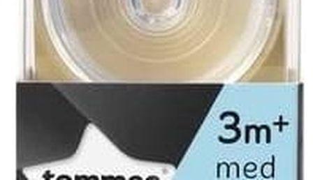 Dudlík na kojeneckou láhev Tommee Tippee C2N střední průtok 3+, 2ks