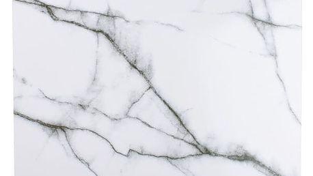 Bílá podložka Salt&Pepper Marble, 40x30cm