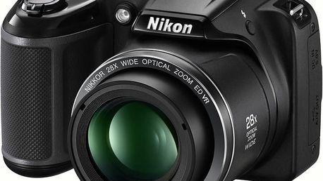 Nikon Coolpix L340, černá - VNA780E1 + Batoh Alpine Pro Nexca v ceně 750 Kč