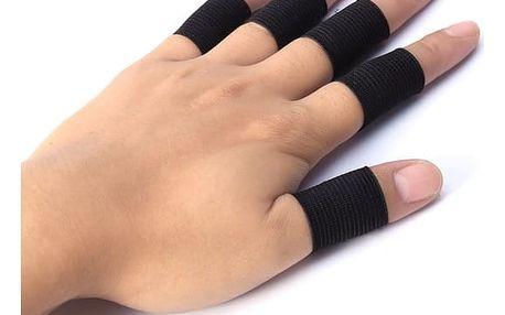 Zpevňovače prstů pro sport v černé barvě